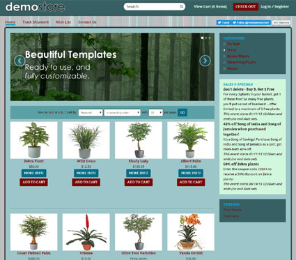 View a demo of the blalock Template Package