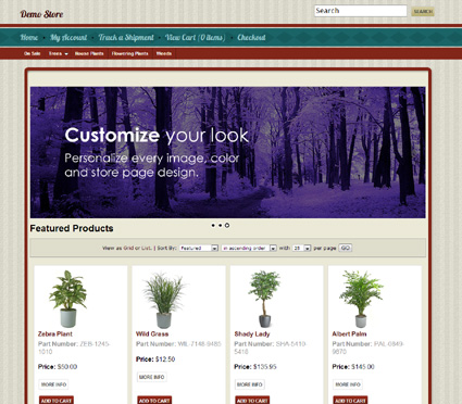 View a demo of the blodgett Template Package