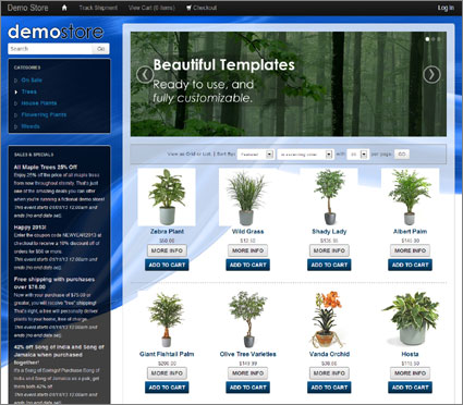 View a demo of the brooks Template Package