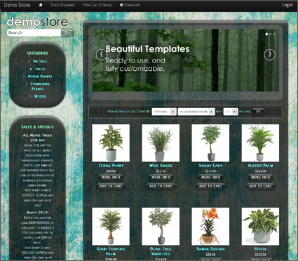 View a demo of the cascadia Template Package