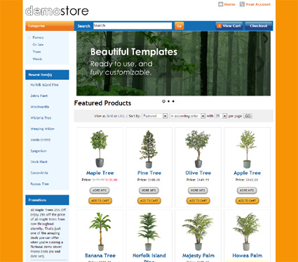 View a demo of the coburg Template Package