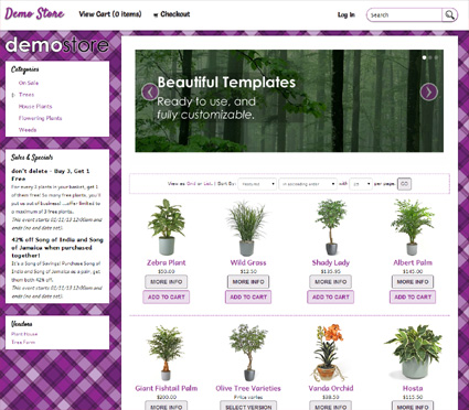 View a demo of the dora Template Package