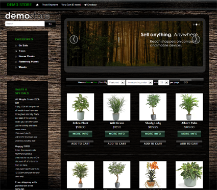 View a demo of the forest grove Template Package