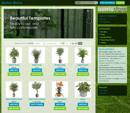 View a demo of the greenleaf Template Package