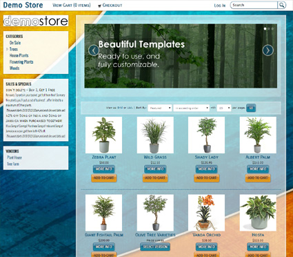 View a demo of the hillsboro Template Package