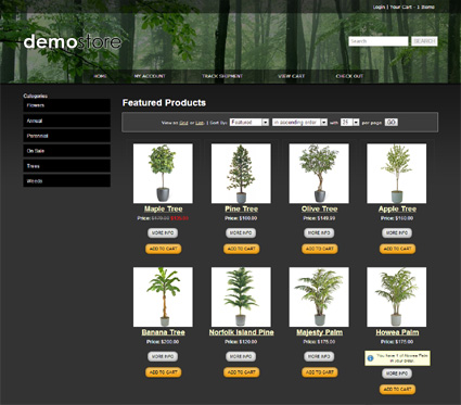 View a demo of the jasper Template Package