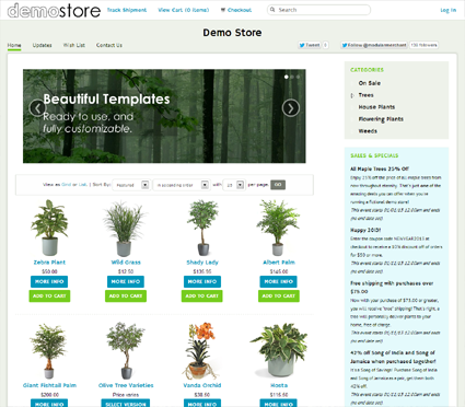 View a demo of the jumpstart Template Package