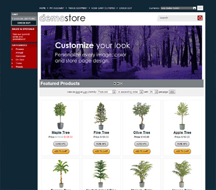 View a demo of the lawen Template Package