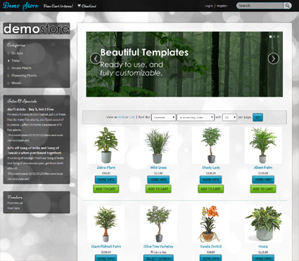 View a demo of the lenz Template Package