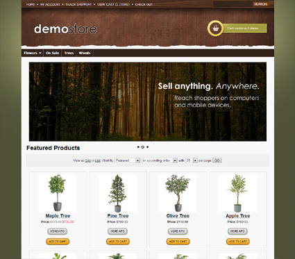 View a demo of the mapleton Template Package