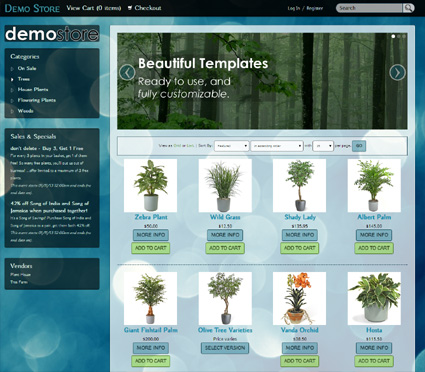 View a demo of the rainier Template Package