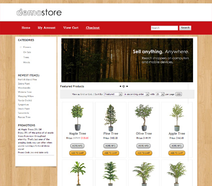 View a demo of the sherwood Template Package