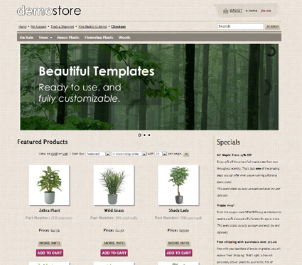 View a demo of the umatilla Template Package