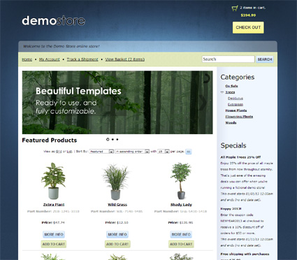 View a demo of the vale Template Package