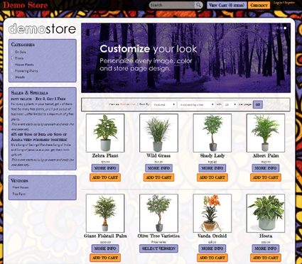 View a demo of the vernonia Template Package