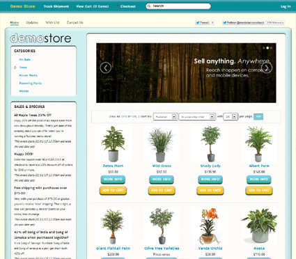 View a demo of the waldport Template Package