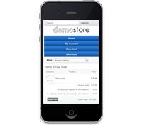 Get the MOBILE shopping cart template